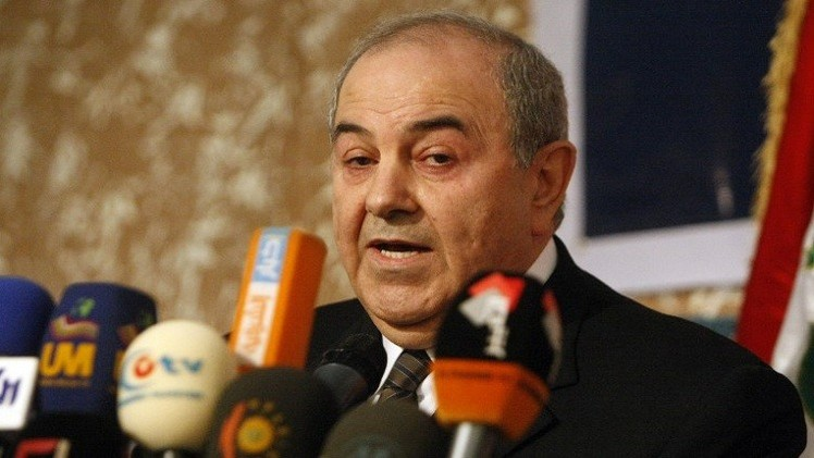 علاوي يحذر من تفكك العراق  في حال بقاء المالكي
