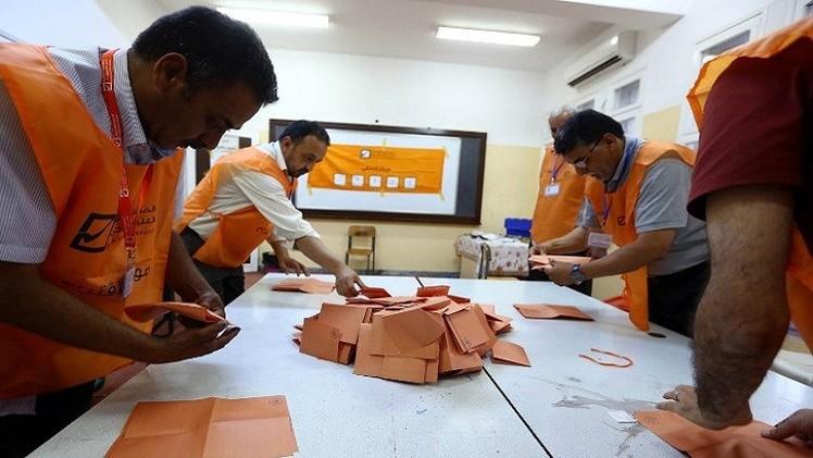 فرز الأصوات في الانتخابات التشريعية في ليبيا