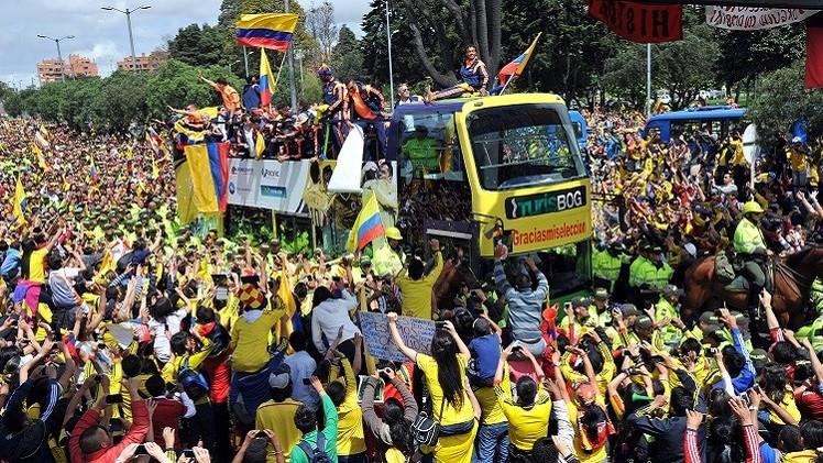 استقبال الأبطال للاعبي كولومبيا من مونديال 2014 .. (صور)