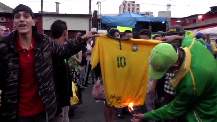 البرازيل.. غضب وانفجار بسبب الهزيمة المذلة (فيديو)