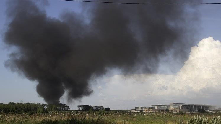 اشتباكات في مطار دونيتسك شرق أوكرانيا