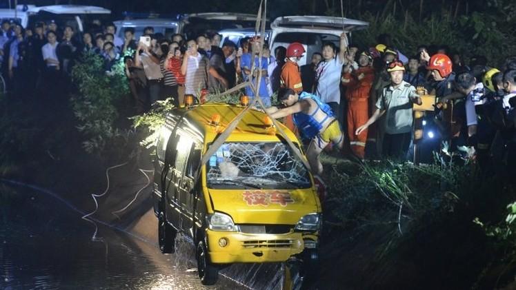 مقتل 11 بينهم 8 أطفال في حادث مرور وسط الصين