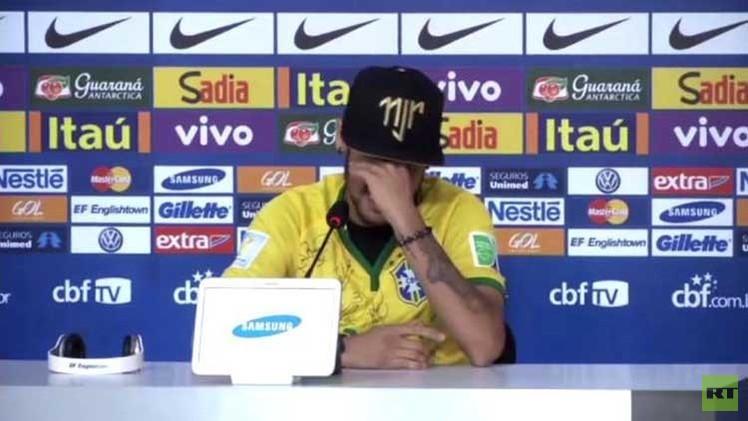 بالفيديو.. نيمار يبكي ويرفض اعتذار مدافع كولومبيا زونيغا
