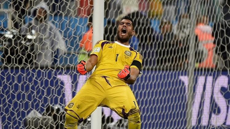 ورقة حارس الأرجنتين روميرو لا تتعلق بكرة القدم !!