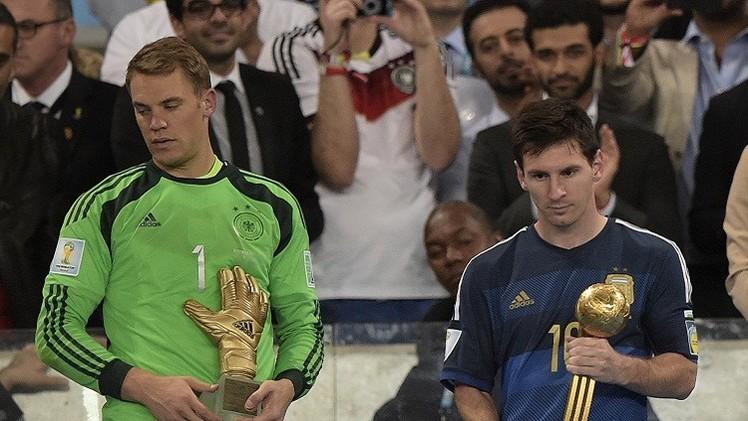 ميسي يفوز بالكرة الذهبية ونوير أفضل حارس في مونديال البرازيل