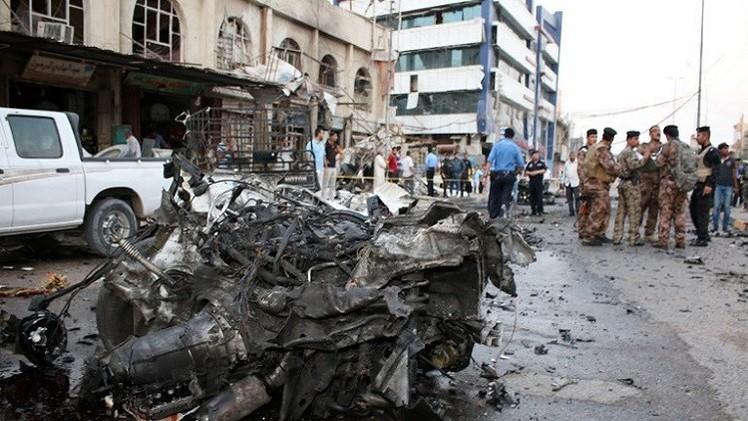مقتل واصابة 16 شخصا بانفجارين في بغداد