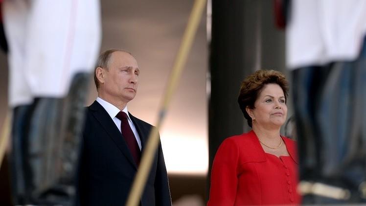 بوتين: لدى روسيا والبرازيل نظرة واحدة إلى أهم القضايا الدولية