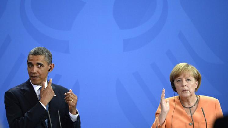 أزمة أوكرانيا والتعاون الاستخباراتي محور مكالمة بين أوباما وميركل
