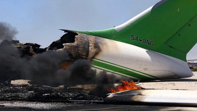استمرار المعارك في مطار طرابلس الدولي