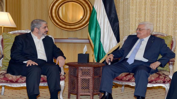 محمود عباس يلتقي خالد مشعل لبحث سبل وقف العدوان الإسرائيلي على غزة