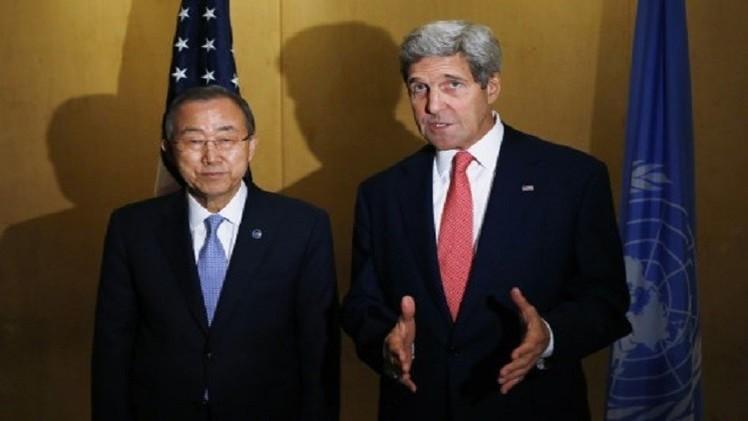 كيري يتعهد بـ47 مليون دولار للمدنيين في غزة ويطالب حماس بوقف صواريخها