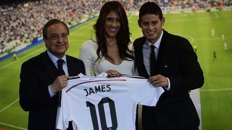 بالصور .. جيمس رودريغيز يرتدي قميص ريال مدريد رقم 10
