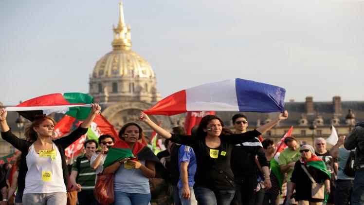 مظاهرات عارمة في فرنسا تأييدا لغزة
