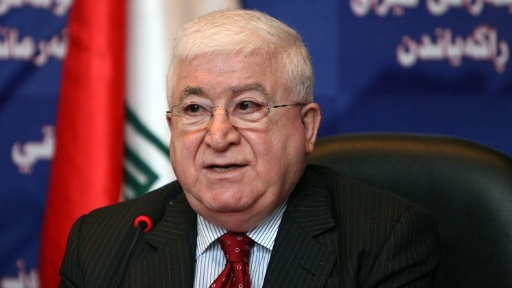 الرئيس العراقي الجديد فؤاد معصوم يؤدي اليمين الدستورية