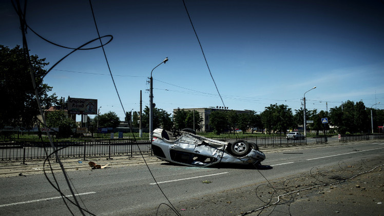 اصابة صحفية بولندية شرق أوكرانيا