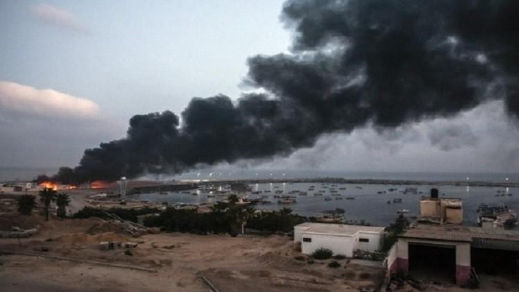 القصف الإسرائيلي يوقف محطة كهرباء غزة