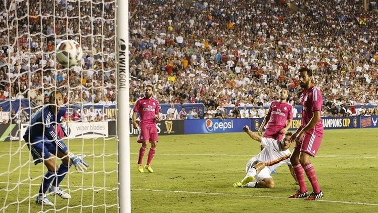 بالفيديو .. ريال مدريد يسقط أمام روما بهدف توتي
