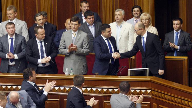 البرلمان الأوكراني يرفض استقالة رئيس الوزراء