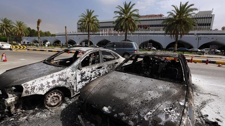 تواصل معركة مطار طرابلس في ليبيا