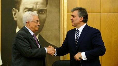 الرئيس الفلسطيني محمود عباس ونظيره التركي عبد الله غل