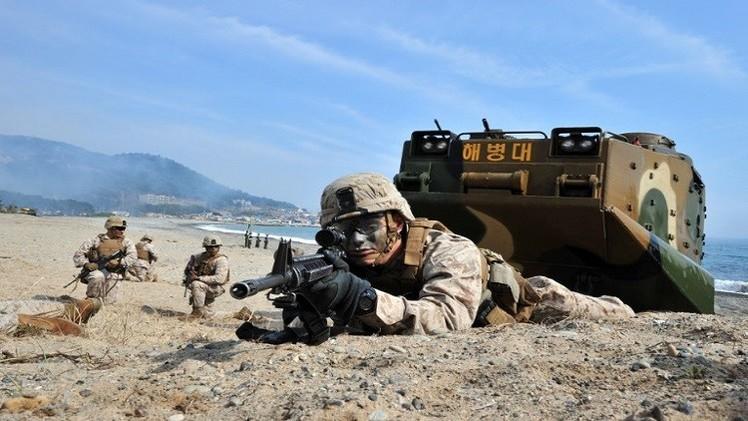كوريا الشمالية تحذر جارتها الجنوبية والولايات المتحدة من المضي قدما في المناورات العسكرية المشتركة