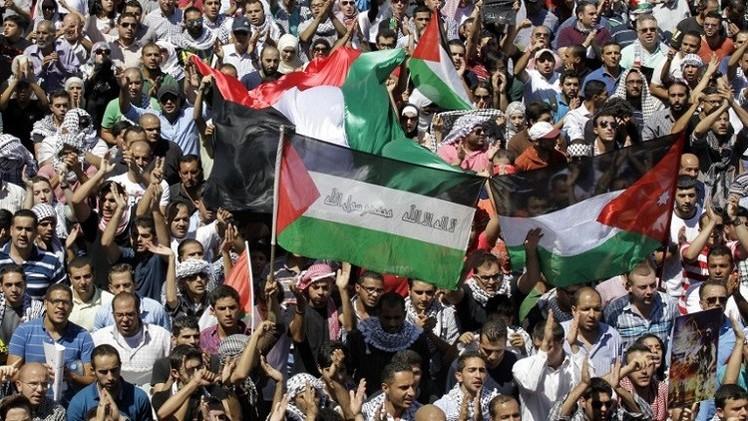 آلاف الأردنيين يتظاهرون تضامنا مع غزة