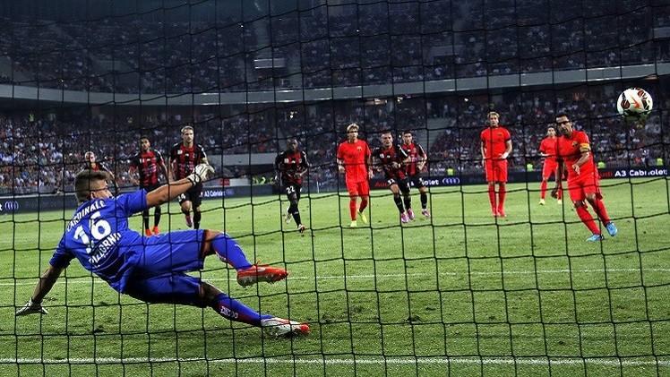 بالفيديو .. برشلونة يتعادل مع نيس الفرنسي بركلتي جزاء