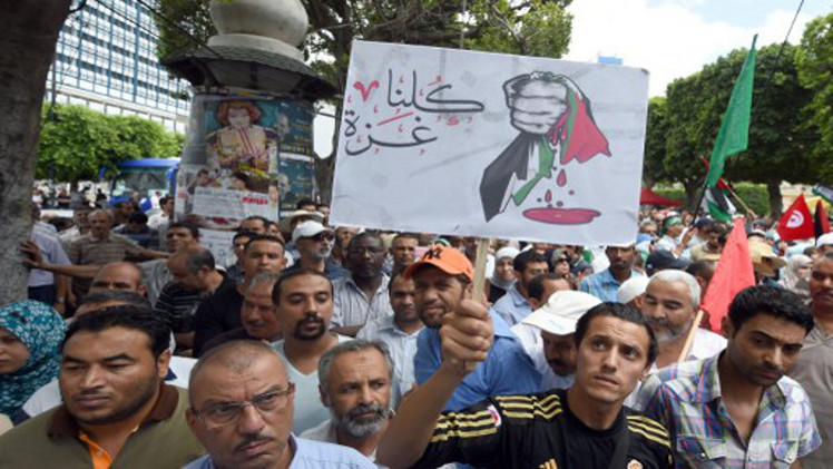 تونس تطلق حملة جمع المساعدات لأهالي غزة