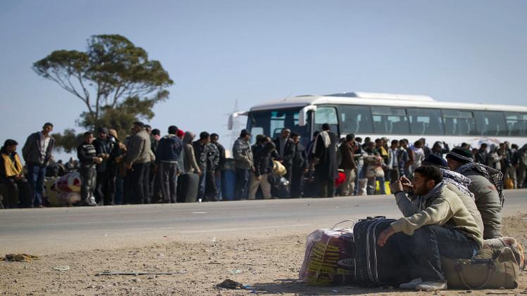 سامح شكري: العالقون المصريون على الحدود الليبية بين 5 آلاف و 10 آلاف