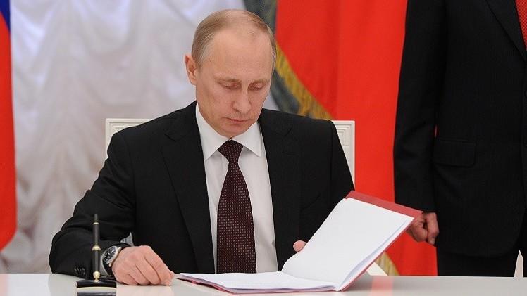بوتين يوقّع مرسوما بشأن الرد على عقوبات الغرب