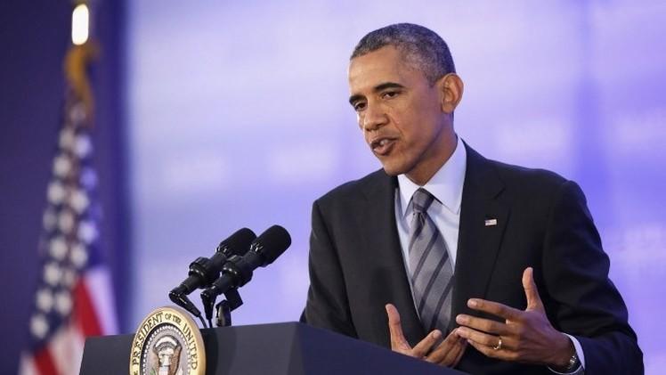 أوباما يهدد بعقوبات جديدة على روسيا ويدعو إلى