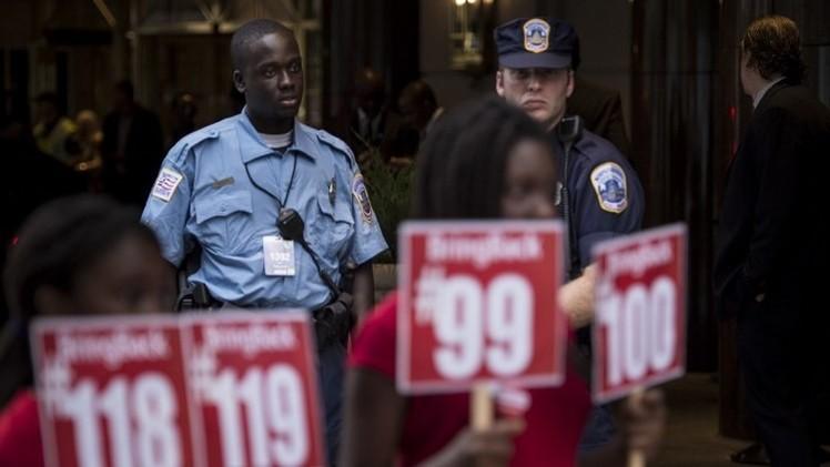 واشنطن تعبر عن سخطها للكونغو وغامبيا بعد التعرض لمتظاهرين في واشنطن