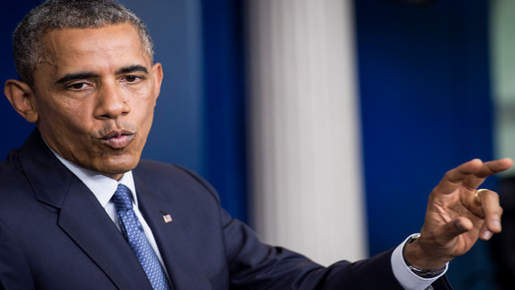 أوباما: سنحمي مواطنينا في العراق وقواتنا ستستمر في مساعدة القوات العراقية