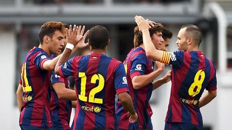 منير الحدادي يقود برشلونة لفوز ساحق 6-0 على خصمه الفنلندي
