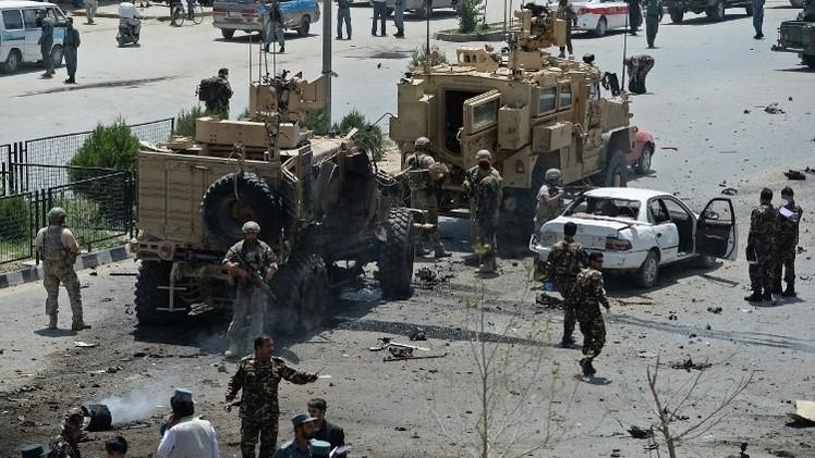 مقتل 4 مدنيين وإصابة 7 في هجوم انتحاري استهدف قافلة لقوات حلف الناتو في كابول