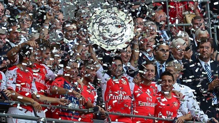 أرسنال يفوز بلقب الدرع الخيرية لأول مرة منذ 10 سنوات