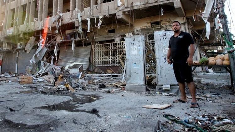 مقتل وجرح 36 شخصا بتفجيرين في بغداد