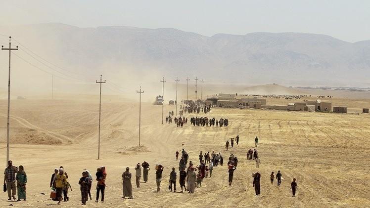 عسكريون أمريكيون في طريقهم إلى جبل سنجار شمال العراق