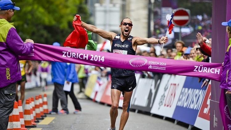 الفرنسي دينيز بطلا لأوروبا لسباق المشي 50 كم