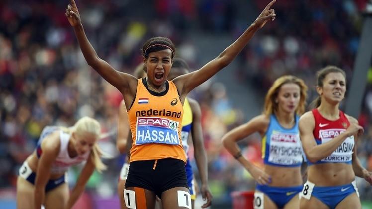 الهولندية سيفان حسن بطلة لأوروبا لسباق 1500