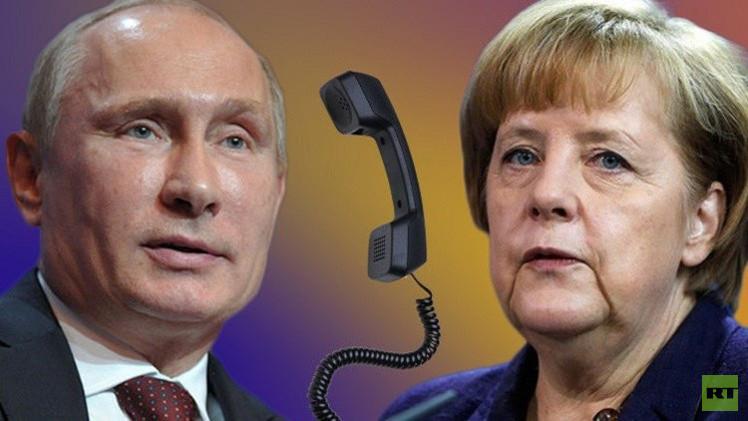 بوتين وميركل يبحثان صيغ المساعدة الدولية في تسوية الأزمة الأوكرانية