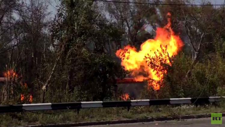 المدفعية الأوكرانية تقصف خطا لأنابيب الغاز في دونيتسك (فيديو)