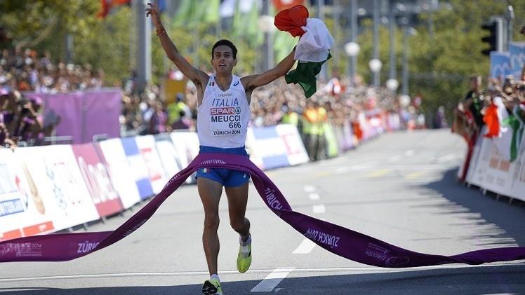 الإيطالي ميوتشي بطلا لأوروبا في سباق الماراثون