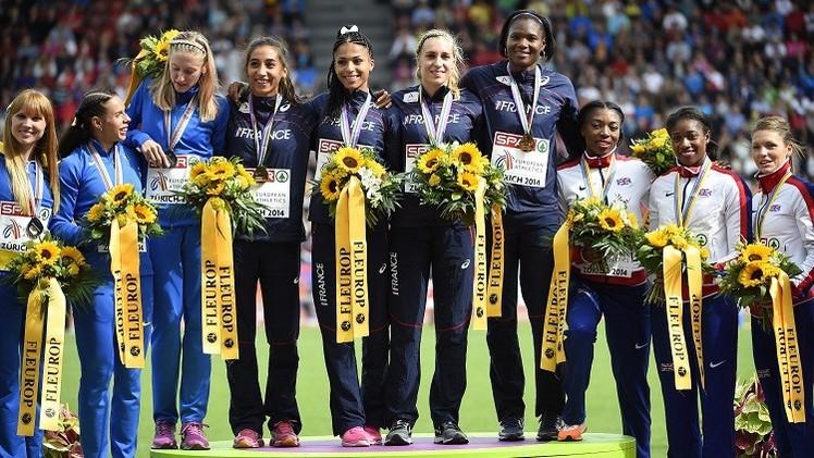 فرنسا تفوز بذهبية أوروبا لسباق التتابع (4×400) للسيدات