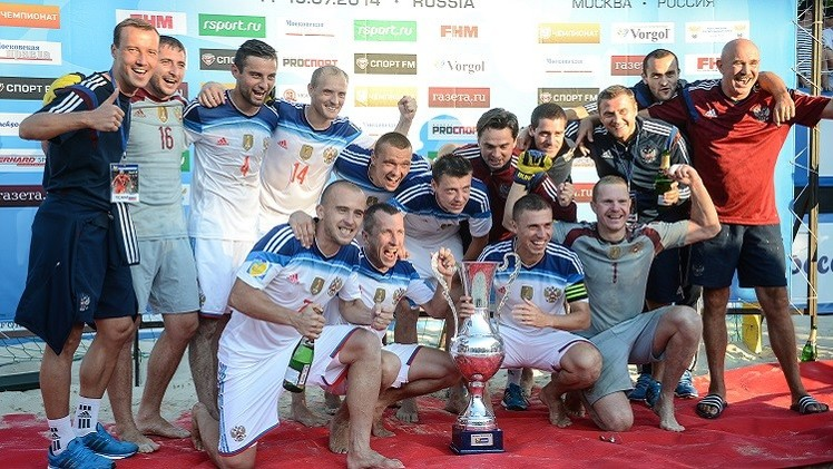 روسيا بطلة للدوري الأوروبي بكرة القدم الشاطئية .. (صور)