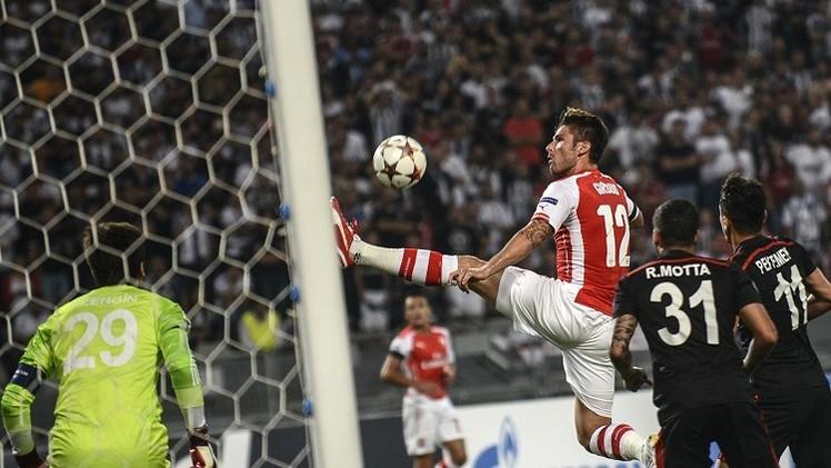 ارسنال يقع في فخ التعادل السلبي أمام بيشكتاش التركي في دوري الأبطال