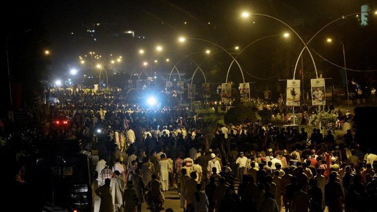مظاهرة أمام البرلمان الباكستاني للمطالبة باستقالة  شريف
