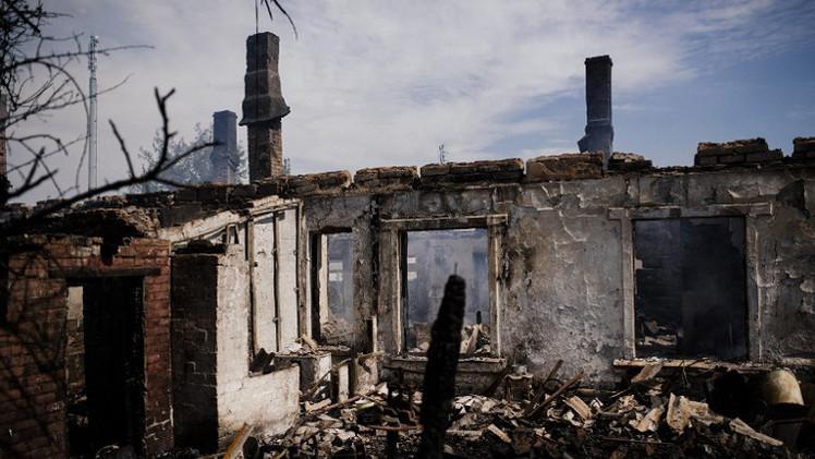 مقتل 34 شخصا في مقاطعة دونيتسك وحصيلة الضحايا تقترب من ألف قتيل