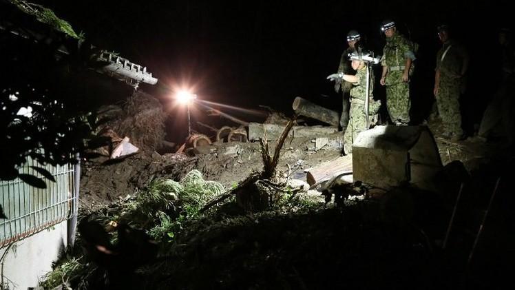 ارتفاع عدد ضحايا الانهيارات الأرضية في اليابان