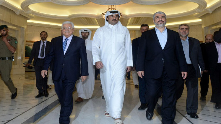 عباس ومشعل يلتقيان بأمير قطر للمرة الثانية خلال 24 ساعة